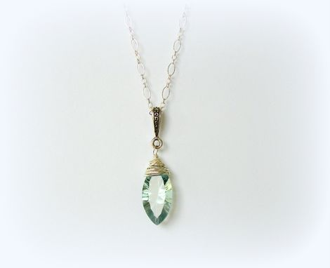 Custom Made Necklace Fluorite Sterling Silver Pendant