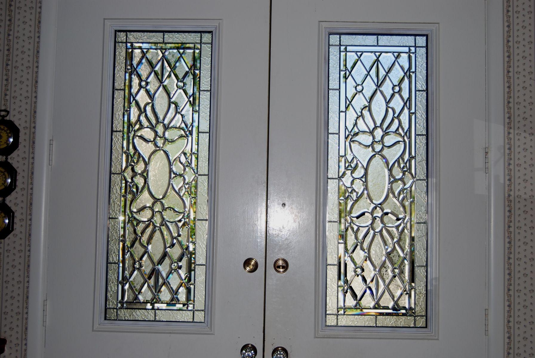 Hand Made Door Panels By Overlay Art Glass Inc Sgo