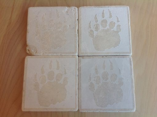 Custom Made Travertine Tile Drink Coasters