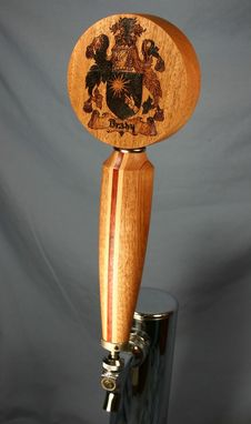Custom Made Custom Beer Tap With Family Crest