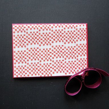 Custom Made Pink & Green Stationery Set