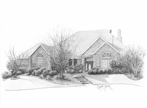 Custom Made Custom Architectural, Home, Or House Sketch, Drawing, Illustration Based On Photo(S)