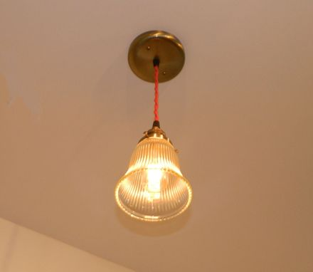 Custom Made Minimalist Antique Style Fitter Pendant: Antique Brass