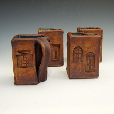 Custom Made Pottery Breakfast Set In The Form Of A House