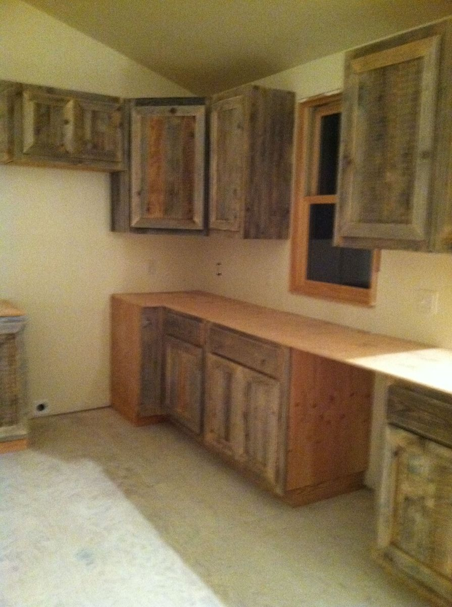 Reclaim Cabinets For A Rustic Cabin