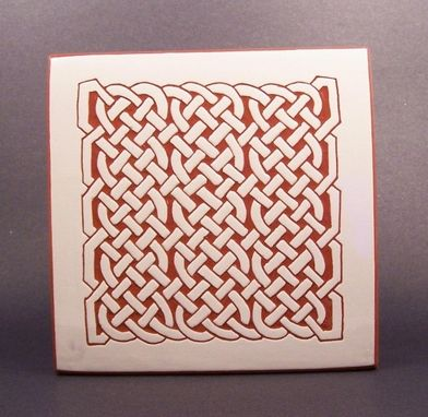 Custom Made Celtic Maze Tile Trivet