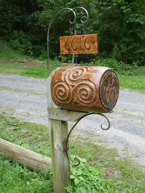 "Custom Made Mail Box, ""Hobbit Style"" Barrel, Wood And Forged Iron Hardware"
