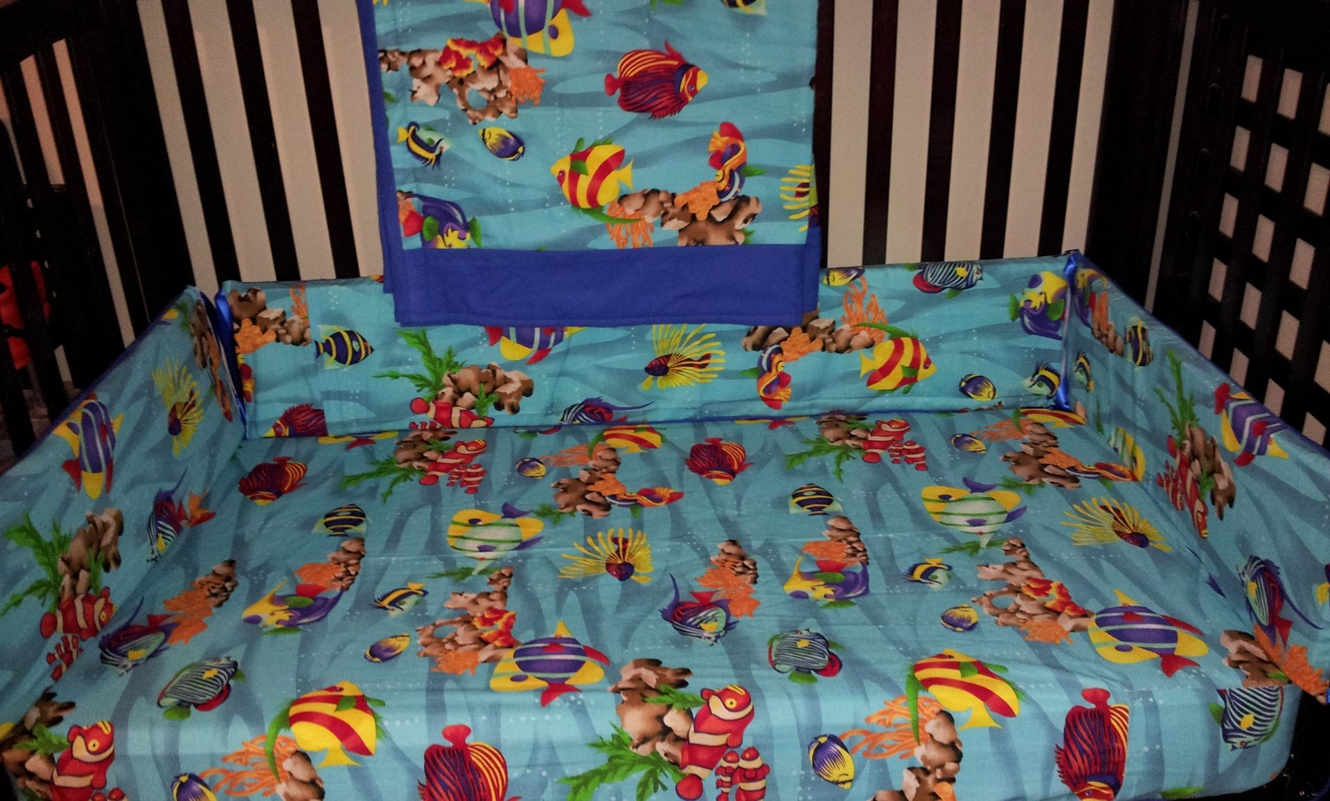 Hand Crafted Under The Sea Custom Crib Set By Nancy S