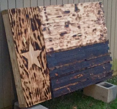 Custom Made Rustic Wood Flags