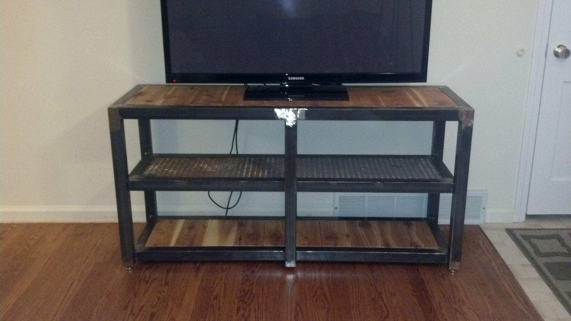 custom tv stand by vitanova furnishings. Black Bedroom Furniture Sets. Home Design Ideas