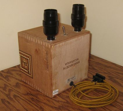 Custom Made Cigar Box Desk Lamp: Diesel - Unholy Cocktail