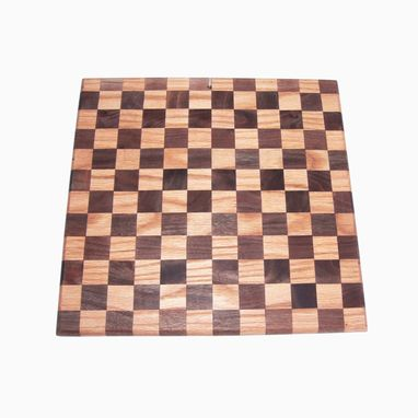 Custom Made Walnut And Oak Checker Design Cutting Board