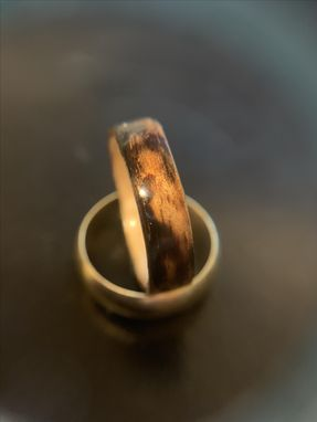 Custom Made Burnt Wood Steam Bentwood Cathedral Or Straight Grain Maple Ring