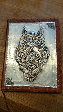 Custom Made Metal Embossed Owl Journal .