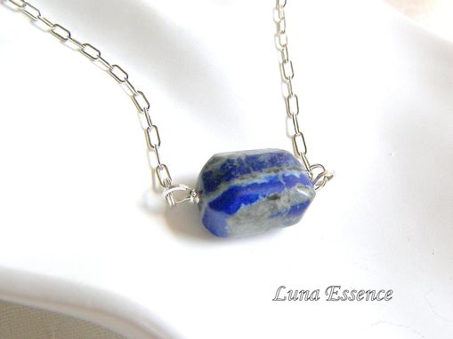 Custom Made Lapis Lazuli Pendant Sterling Silver Chain