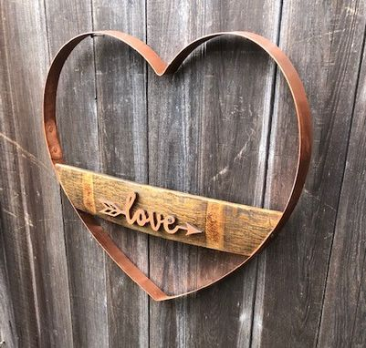 Custom Made Wine Barrel Love Sign