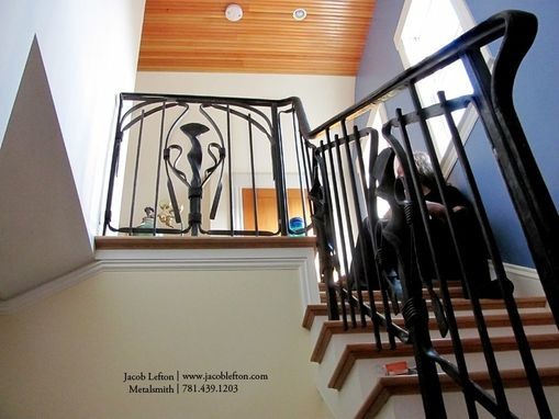 Custom Made Art Nouveau Bird Railing