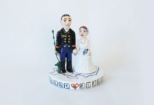 Custom Made Fishing And Military Cake Topper