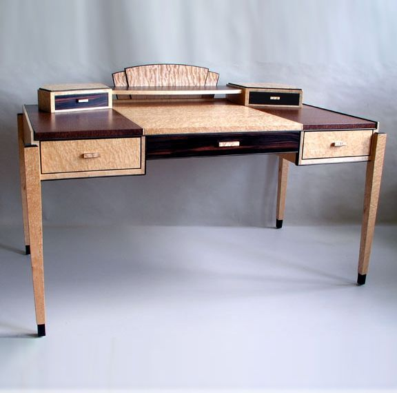 Hand Crafted Art Deco Writing Desk By Joel Liebman Furniture Custommade Com