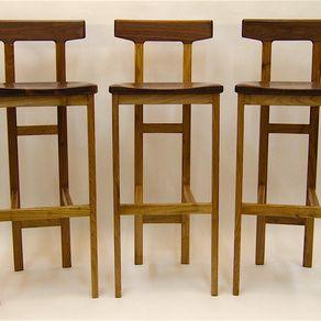 Incredible Walnut Bar Stools Custommade Com Inzonedesignstudio Interior Chair Design Inzonedesignstudiocom