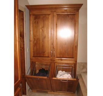 Custom Made Bathroom Armoire - Select Alder