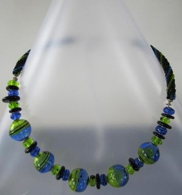 Custom Made Hollow Glass Beads Necklace