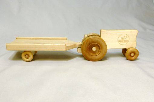 Custom Made Wooden Toy Tractor And Trailer