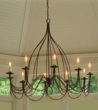 Custom Made Nine Armed French Bell Chandelier