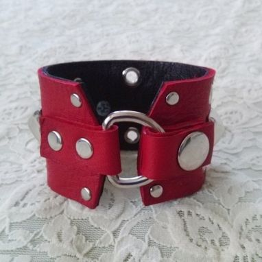 Custom Made Spiked And Studded Leather Bracelet Cuff | Spiked Cuff | Studded Leather Cuff