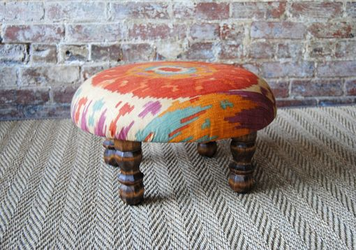 Custom Made Navajo Foot Stool