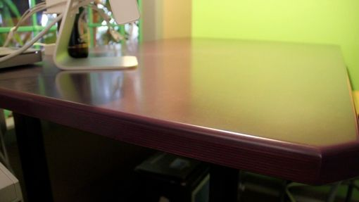 Custom Made Creative Workspace Table/Desk - Bar Height And Mobile W/Color Dye Finish