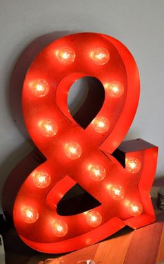 "Custom Made Vintage Inspired Marquee Light- Ampersand ""&"""