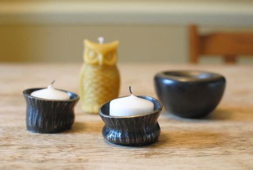 Custom Made Hand-Forged Textured Candle Cups