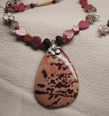 Custom Made Flower Jasper Beaded Necklace