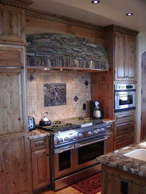 Hand Crafted Knotty Alder Custom Made Kitchen Cabinets