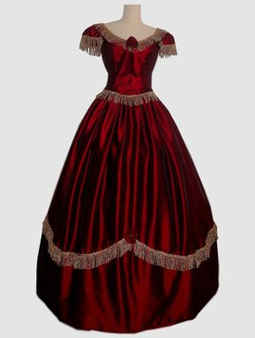 Custom Made Civil War Ball Gown Or Bridal Wedding Dress