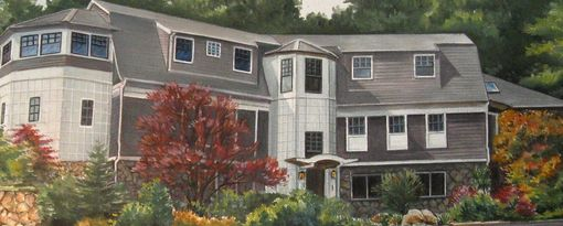 Custom Made House Portrait, Concord Ma