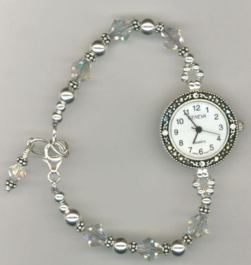 Custom Made Custom Swarovski Crystal Beaded Watch