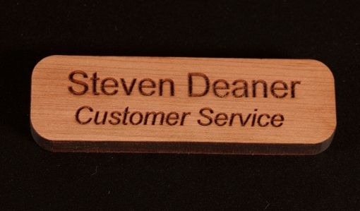 Custom Made 1 X 3 Name Badge