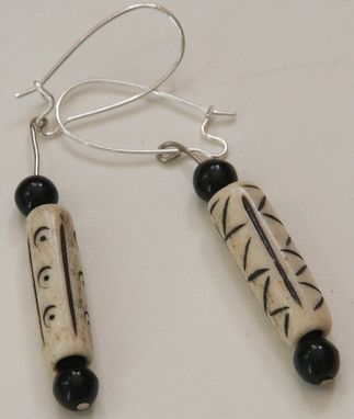 Custom Made Long Bone Earrings