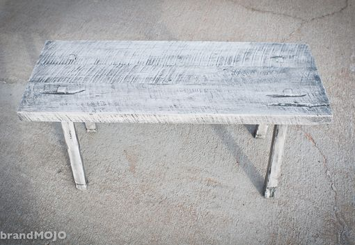 Custom Made Reclaimed Wood Sitting Bench