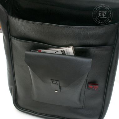 Custom Made Leather & Suede Messenger Long Laptop Ipad Tech Bag