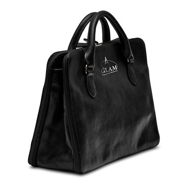 Custom Made Elegant Leather Handbag, Made In Italy,