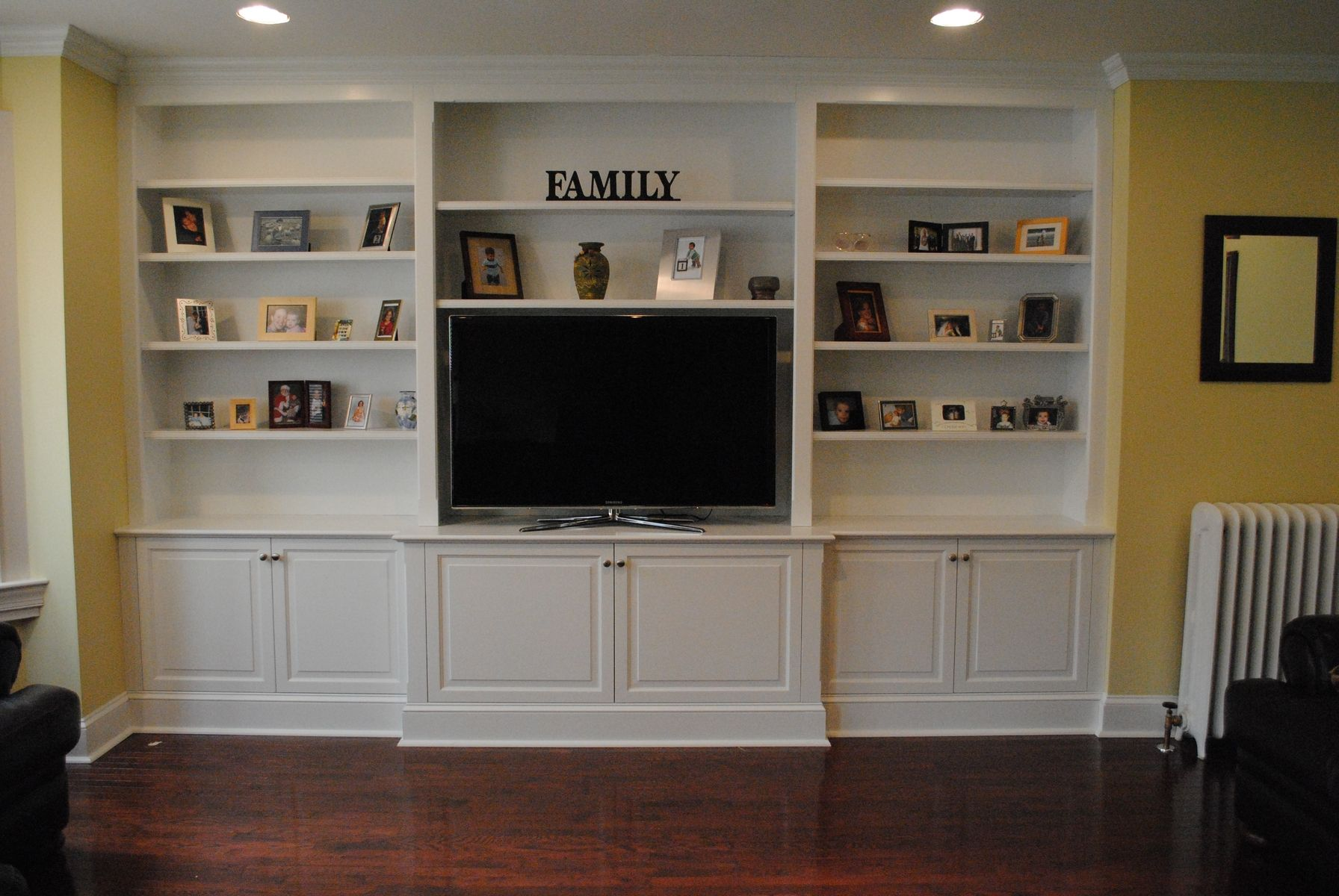 Custom Made Painted Built In Tv Cabinetry