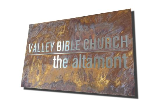 Custom Made #54 Rusty Plasma Cut Sign