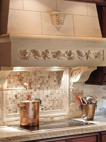 Hand Crafted Stone Kitchen Hood By Southern Stone Crafters