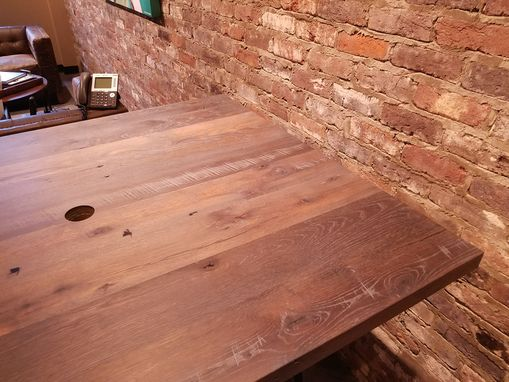 Custom Made Reclaimed Wood Conference Table - White Oak