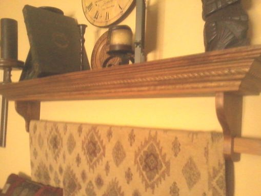 Custom Made Simple And Elegant Mantle Shelf And Quilt Rack