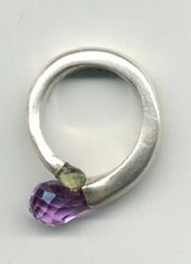 Custom Made Amethyst, Peridot Sterling Ring