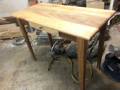 Custom Made Walnut And Maple Writing Desk
